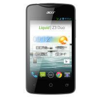 Acer Liquid Z3 supports frequency bands GSM and HSPA. Official announcement date is  August 2013. The device is working on an Android OS, v4.2 (Jelly Bean) with a Dual-core 1 GHz Cortex-A7