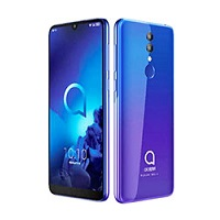 Alcatel 3 (2019) supports frequency bands GSM ,  HSPA ,  LTE. Official announcement date is  February 2019. The device is working on an Android 8.1 (Oreo) with a Octa-core (2x2.0 GHz Cortex