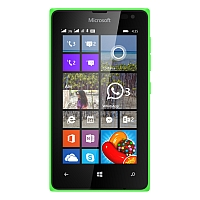 Microsoft Lumia 435 Dual SIM supports frequency bands GSM and HSPA. Official announcement date is  January 2015. The device is working on an Microsoft Windows Phone 8.1, planned upgrade to