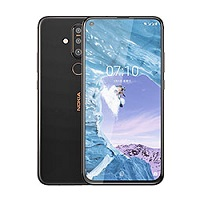 Nokia X71 supports frequency bands GSM ,  HSPA ,  LTE. Official announcement date is  April 2019. The device is working on an Android 9.0 (Pie); Android One with a Octa-core (4x2.2 GHz Kryo