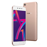 Oppo A71 (2018) supports frequency bands GSM ,  UMTS ,  LTE. Official announcement date is  February 2018. The device is working on an Android 7.1 (Nougat) with a Octa-core 1.8 GHz Cortex-A