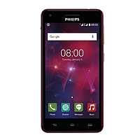 Philips V377 supports frequency bands GSM and HSPA. Official announcement date is  December 2015. The device is working on an Android OS, v5.1 (Lollipop) with a Quad-core 1.3 GHz processor