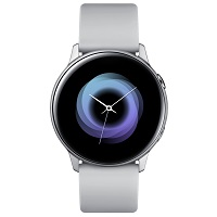 Samsung Galaxy Watch Active doesn't have a GSM transmitter, it cannot be used as a phone. Official announcement date is  February 2019. The device is working on an Tizen-based wearable OS 4