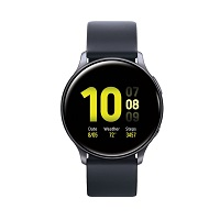 Samsung Galaxy Watch Active2 Aluminum doesn't have a GSM transmitter, it cannot be used as a phone. Official announcement date is  August 2019. The device is working on an Tizen-based weara