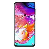 Samsung Galaxy A70 supports frequency bands GSM ,  HSPA ,  LTE. Official announcement date is  March 2019. The device is working on an Android 9.0 (Pie) with a Octa-core (2x2.0 GHz & 6x1.7