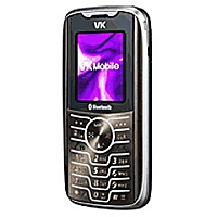 VK Mobile VK2020 supports GSM frequency. Official announcement date is  February 2006. VK Mobile VK2020 has 64 MB of built-in memory.