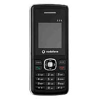 Vodafone 225 supports GSM frequency. Official announcement date is  May 2007. Vodafone 225 has 4 MB of built-in memory.